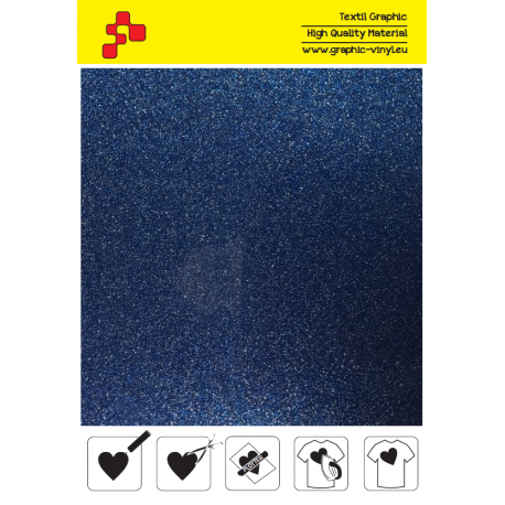 IDG740A Blue Glitter (Sheet) thermal transfer film / iDigit