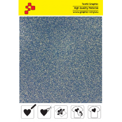 436A Glitter Blue (Sheet) termal transfer film / POLI-FLEX PREMIUM