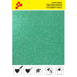 437A Glitter Green (Sheet) termal transfer film / POLI-FLEX PREMIUM