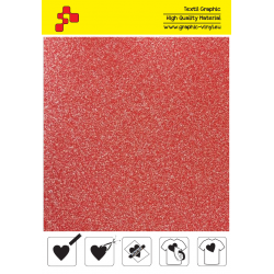 438A Glitter Red (Sheet) termal transfer film / POLI-FLEX PREMIUM