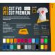 VelCut Evo Electric Red 04 suede termanl transfer film / SEF Textile