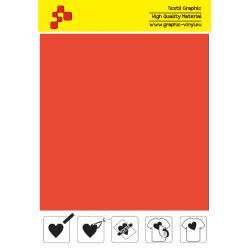 IDSF733A Carrot orange (Sheet) Speed Flex termal transfer film / B-flex