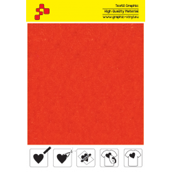 IDVCE12A Orange (Sheet) suede thermal transfer film / iDigit