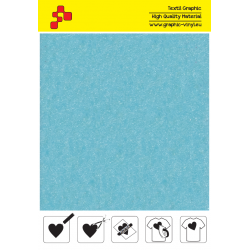 IDVCE15A Sky Blue (Sheet) suede thermal transfer film / iDigit