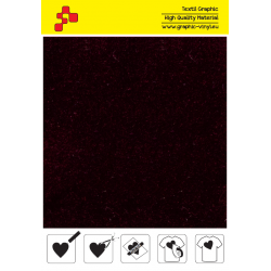 IDVCE17A Bordeaux (Sheet) suede thermal transfer film / iDigit