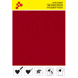IDVCE05A Red (Sheet) suede thermal transfer film / iDigit
