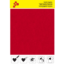 IDVCE04A Electric Red (Sheet) suede thermal transfer film / iDigit