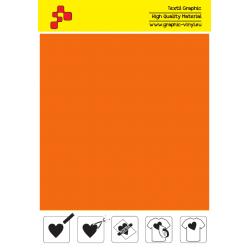 IDVCPNOA Neon Orange (Sheet) suede thermal transfer film / iDigit