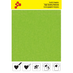 IDVCE23A Lime Green (Sheet) suede thermal transfer film / iDigit