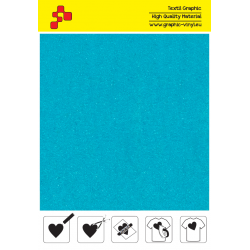 IDVCE20A Turquoise (Sheet) suede thermal transfer film / iDigit