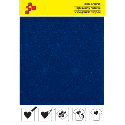 IDVCE08A Pacific Blue (Sheet) suede thermal transfer film / iDigit