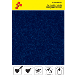 IDVCE09A Royal Blue (Sheet) suede thermal transfer film / iDigit
