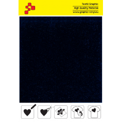 IDVCE07A Navy Blue (Sheet) suede thermal transfer film / iDigit
