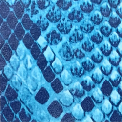 Fantasy Flex Blue snake 04 termal transfer film / SEF Textile