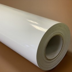 75WGB/500 White Print Gloss film black adhesive / Kemica