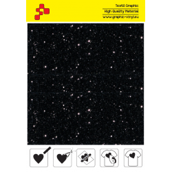 IDD710A Black Pearl Glitter (Sheet) thermal transfer film / iDigit