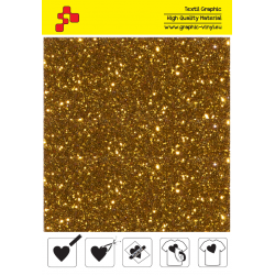 IDD722A Pumpkin yellow Pearl Glitter (Sheet) thermal transfer film / iDigit
