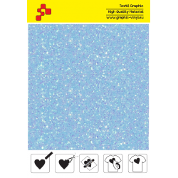 IDDFLUO46A Neon blue Pearl Glitter (Arch) thermal transfer film / iDigit