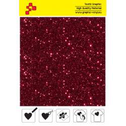 IDD730A Red Pearl Glitter (Arch) thermal transfer film / iDigit
