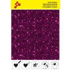 IDD735A Coral red Pearl Glitter (Sheet) thermal transfer film / iDigit