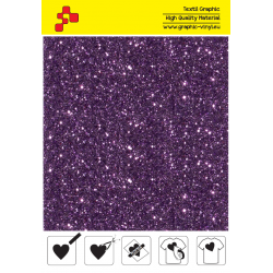 IDD738A Cyclamen Pearl Glitter (Sheet) thermal transfer film / iDigit