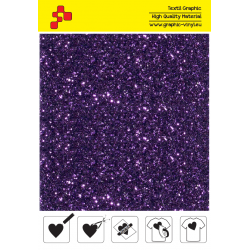 IDD770A Purple Pearl Glitter (Sheet) thermal transfer film / iDigit