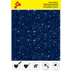 IDD748A Navy blue Pearl Glitter (Sheet) thermal transfer film / iDigit