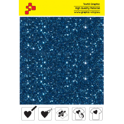 IDD740A Royal blue Pearl Glitter (Sheet) thermal transfer film / iDigit