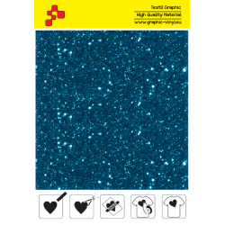 IDD744A Light blue Pearl Glitter (Sheet) thermal transfer film / iDigit
