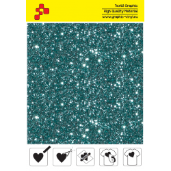 IDD783A Aqumarine Pearl Glitter (Sheet) thermal transfer film / iDigit