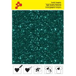 IDD782A Turquoise Pearl Glitter (Sheet) thermal transfer film / iDigit
