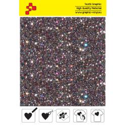 IDD712A Light grey Pearl Glitter (Sheet) thermal transfer film / iDigit