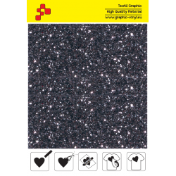 IDD714A Grey Pearl Glitter (Sheet) thermal transfer film / iDigit