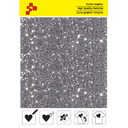 IDD796A Silver Pearl Glitter (Sheet) thermal transfer film / iDigit