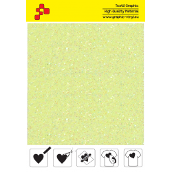 IDDFLUO20A Neon yellow Pearl Glitter (Sheet) thermal transfer film / iDigit