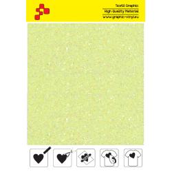 IDDFLUO20A Neon yellow Pearl Glitter (Sheet) thermal transfer film / iDigit
