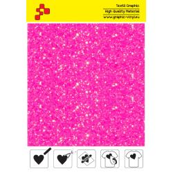 IDDFLUO40A Neon pink Pearl Glitter (Sheet) thermal transfer film / iDigit