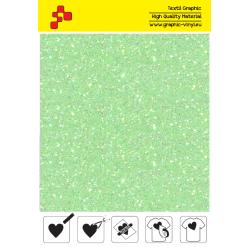 IDDFLUO50A Neon green Pearl Glitter (Sheet) thermal transfer film / iDigit