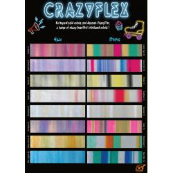 CF000 Sampler A4 Crazy htv Flex  / SEF Textile